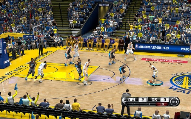 Warriors HD Court | NBA 2K14 PC Mod