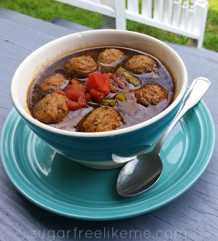 Low Carb Italian Meatball Soup