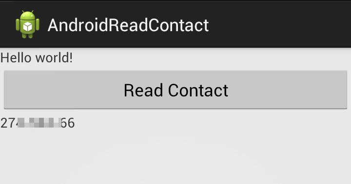 Android er get phone number from contacts database - Er finestra android ...