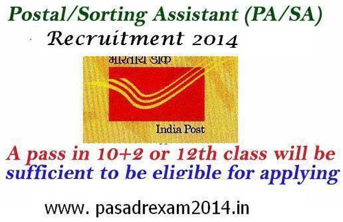 Postal-Sorting Assistant PA-SA- Recruitment 2014