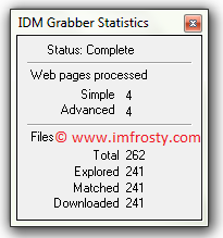 idm grabber complete website download