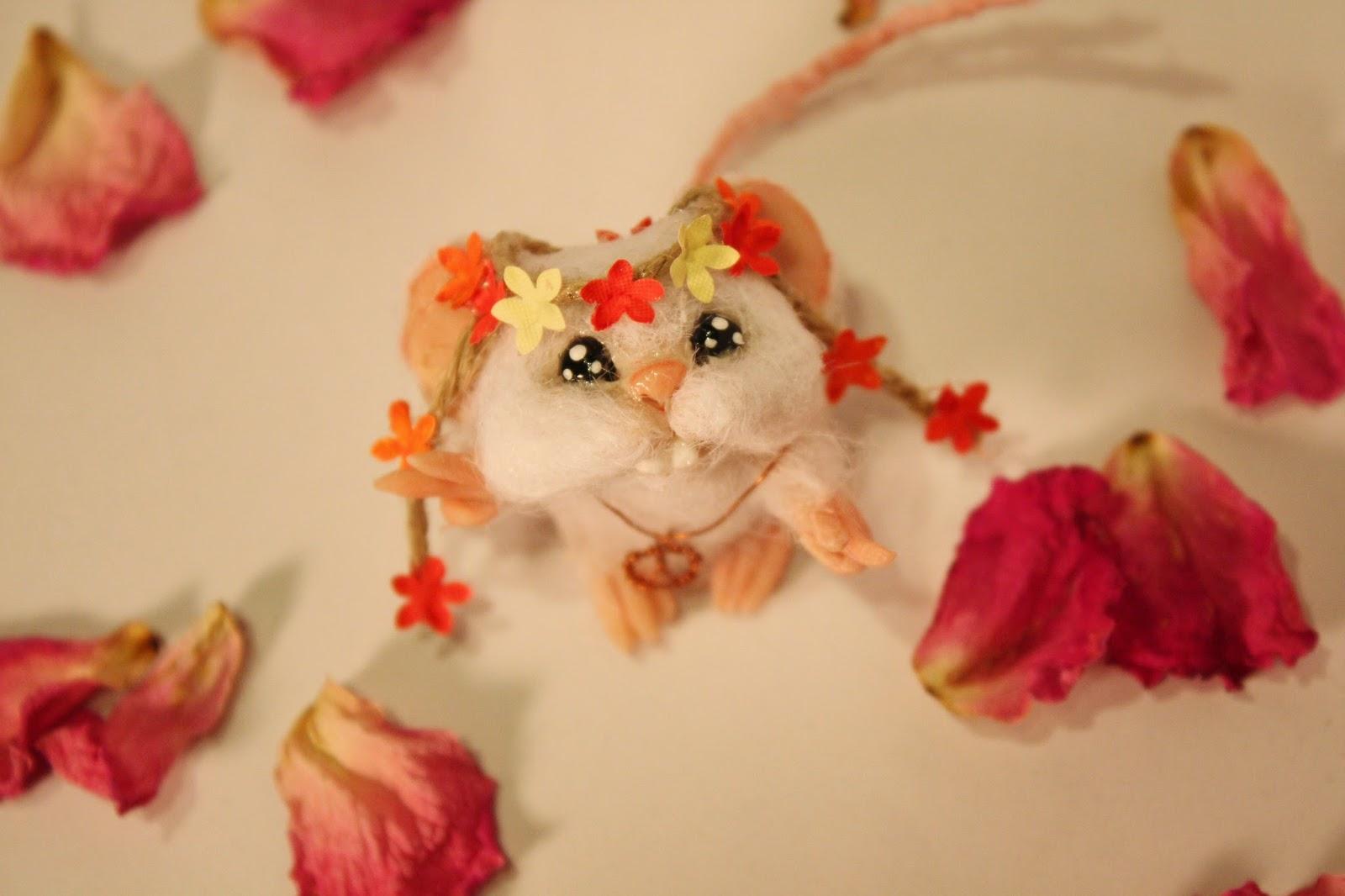 ooak mouse mice topo polimery clay miniature animal cute