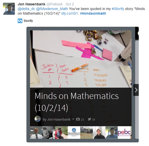 //storify.com/ProfJonh/minds-on-mathematics-10-2-14