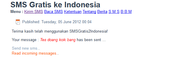SMS Gratis ke Indonesia Gateway Hijack Preview