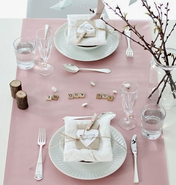 san valentino cena table setting apparecchiare tavola