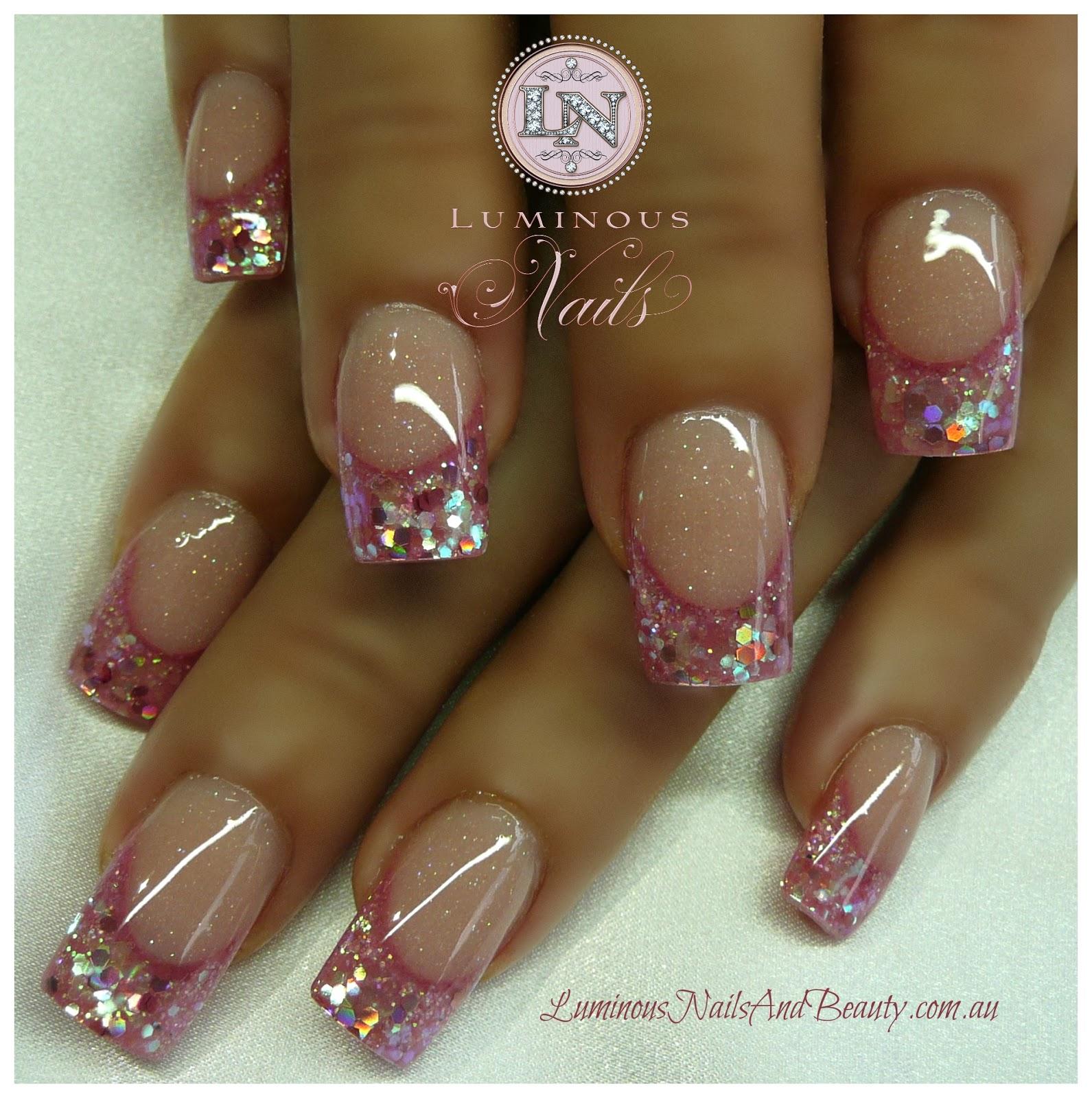 Pink Acrylic Nail Designs: Luminous Nails: December 2012