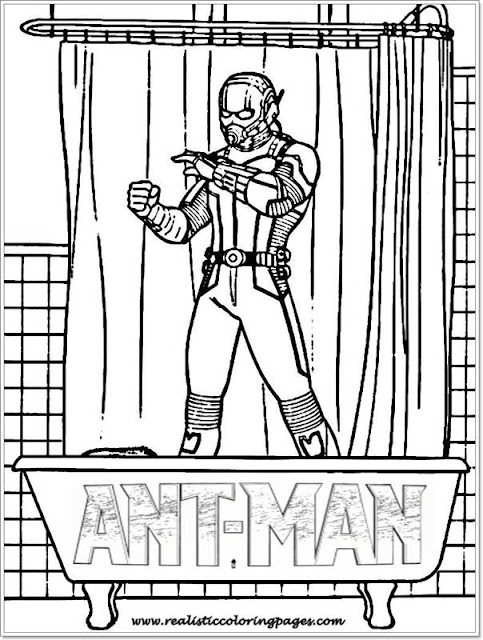 printable Ant Man coloring sheet