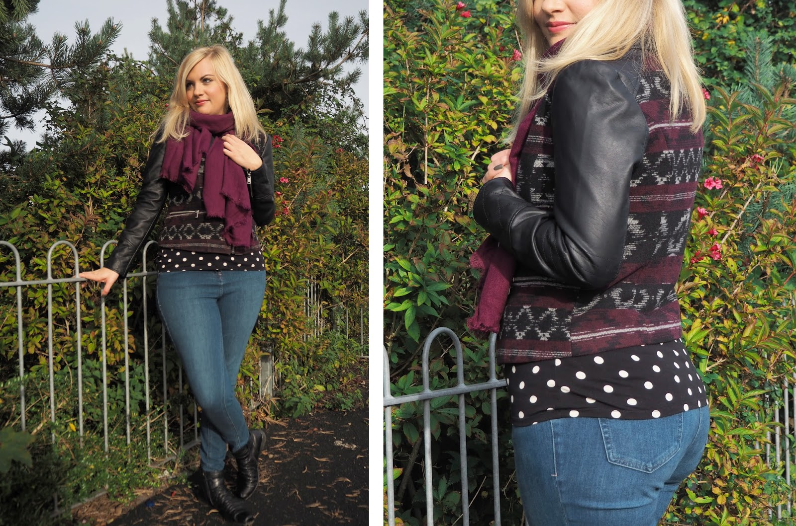 Outfit: Aztec Leather Jacket | Katie Kirk Loves