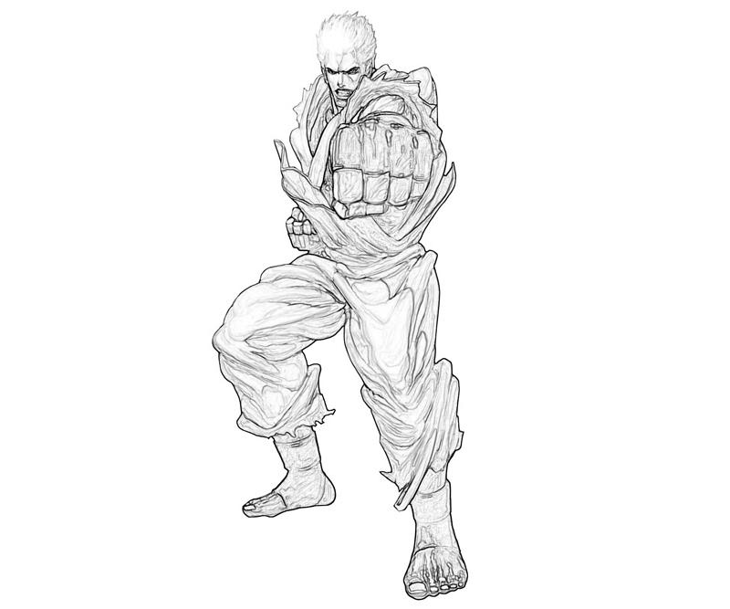 printable-king-of-fighters-ryo-sakazaki-power_coloring-pages