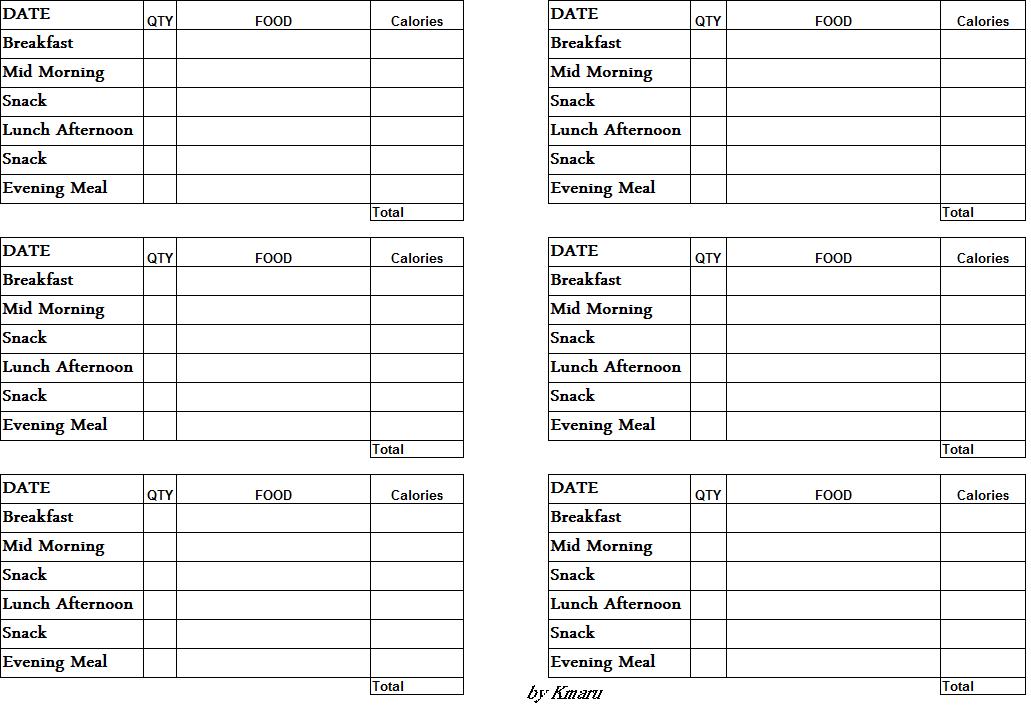 two week meal planner template