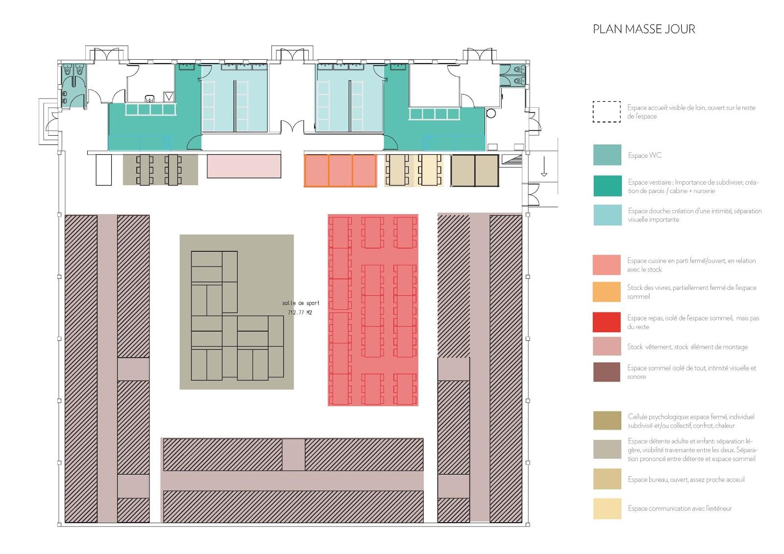Communication de projet espace d tente architecture de for Plan masse architecture