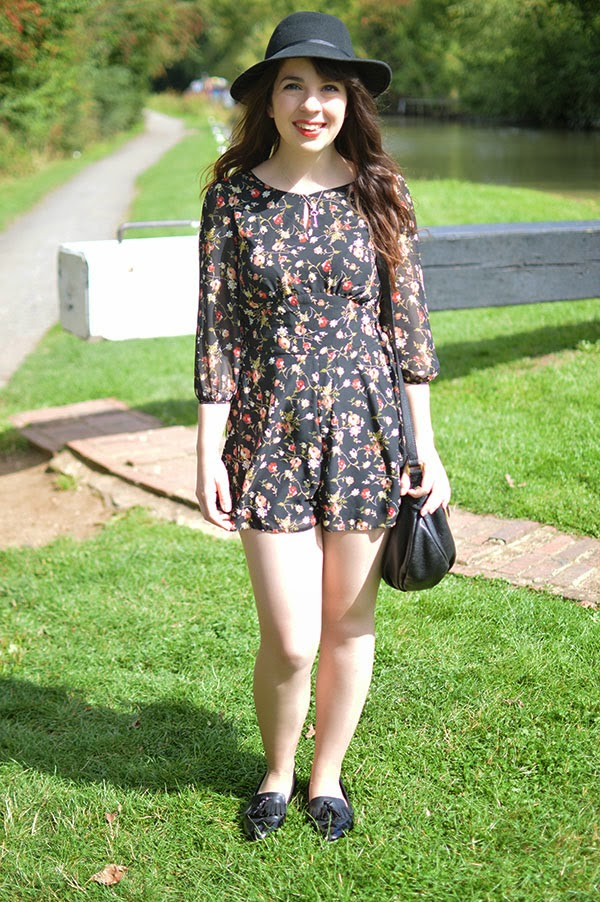 HOW TO WEAR MISS SELFRIDGE FLORAL PLAYSUIT