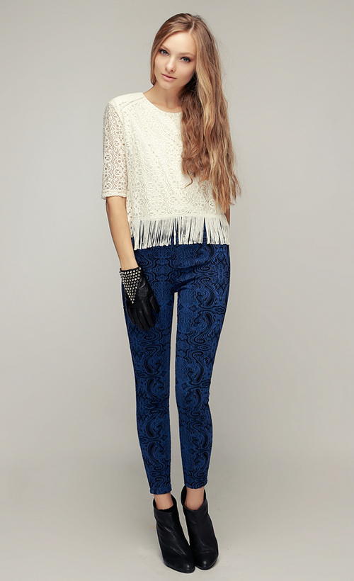 All About Lace Stretchy Pants