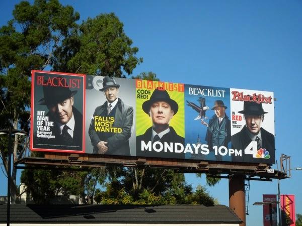 The Blacklist season 2 magazine cover billboard