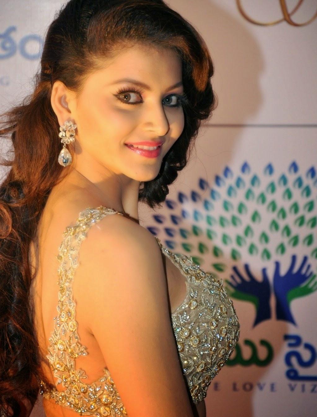 urvashi rautela samantha hot in designer dress cute