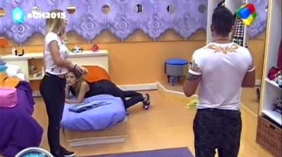Romina y Mariano pelea Gran Hermano 2015