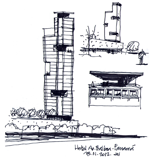 Dibujos de arquitecto architect drawings 120118 torre - Trabajo arquitecto barcelona ...