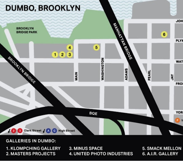 Map: Klompching Gallery Location at 89 Water Street, Brooklyn, NY 11201