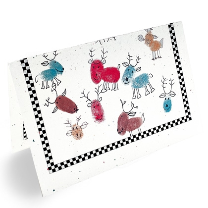 Teaching happily ever after december 2011 for Reindeer christmas card craft