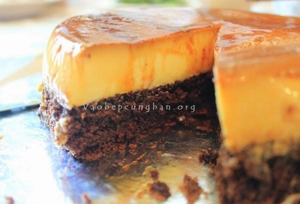 Cách làm bánh gato Caramen - Flan Gateaux 3
