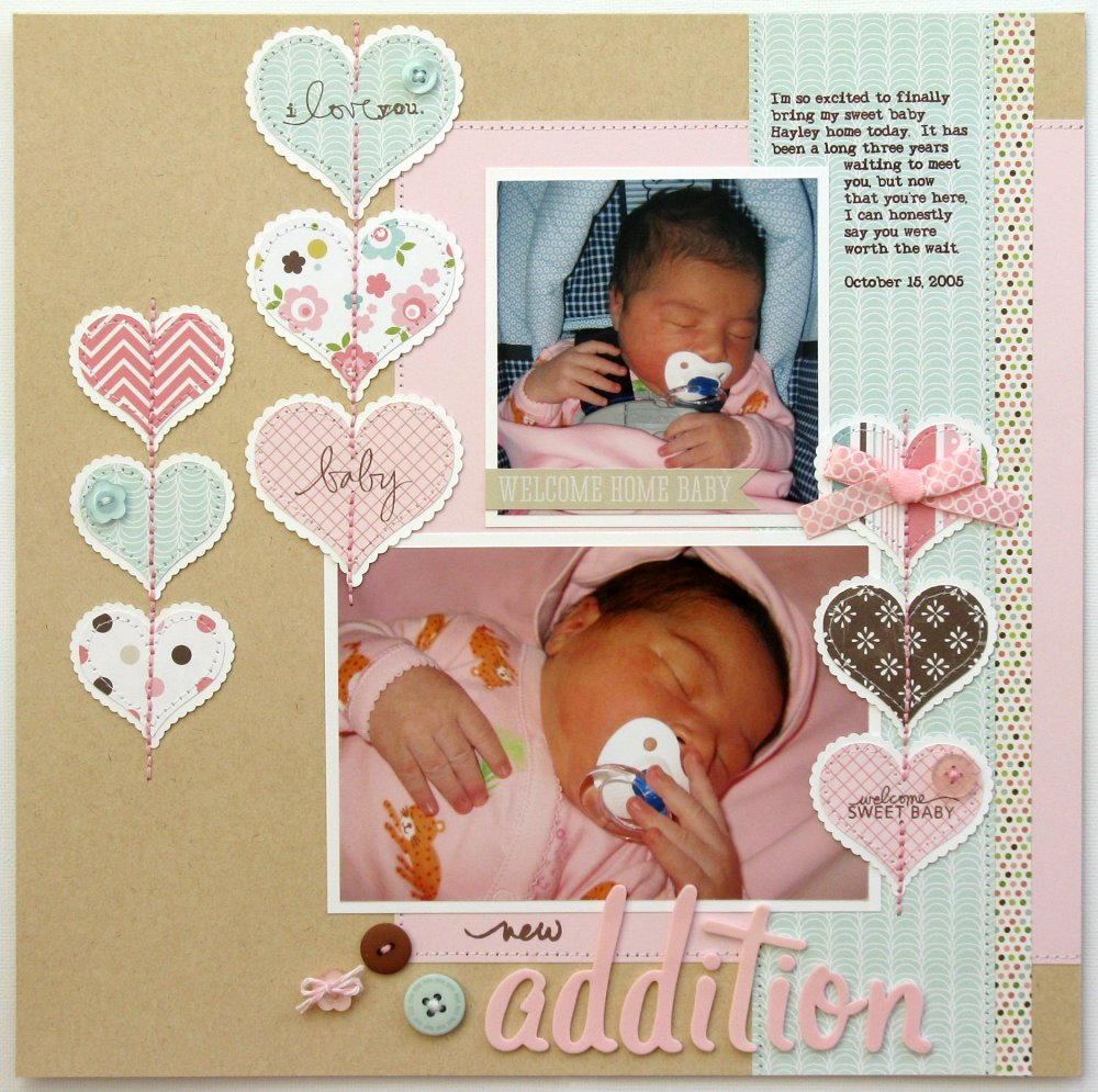 Snippets By Mendi An Echo Park Bundle Of Joy Baby Girl Layout