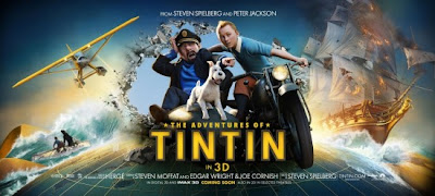 Adventures of Tintin Secret of the Unicorn 3D 2011 poster movie review