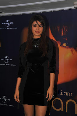 Cute priyanka chopra in black dress