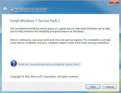 Continuing Windows 7 SP1.
