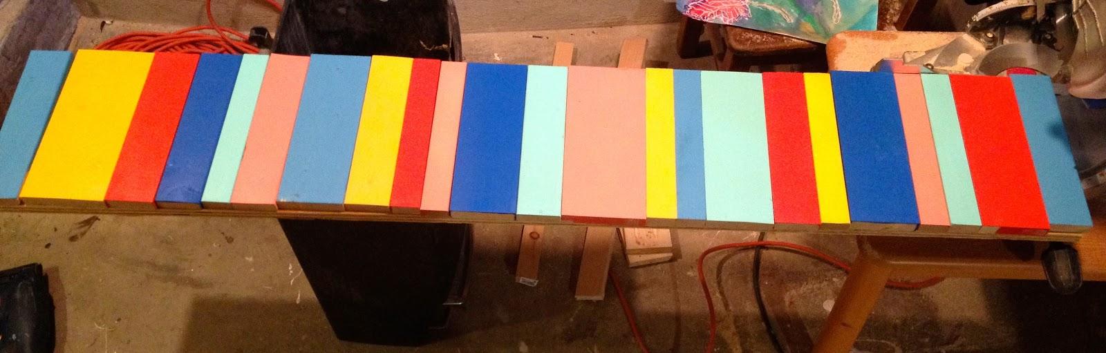 diy multi-color planks