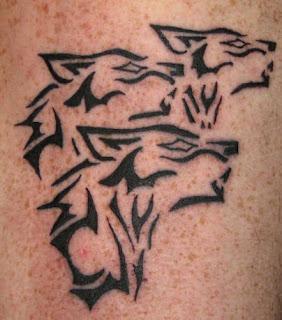Wolf Pack Tribal Tattoo