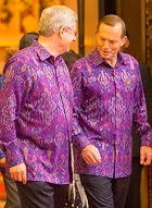 Stephen Harper & Tony Abbott at APEC in Bali, October 2013.