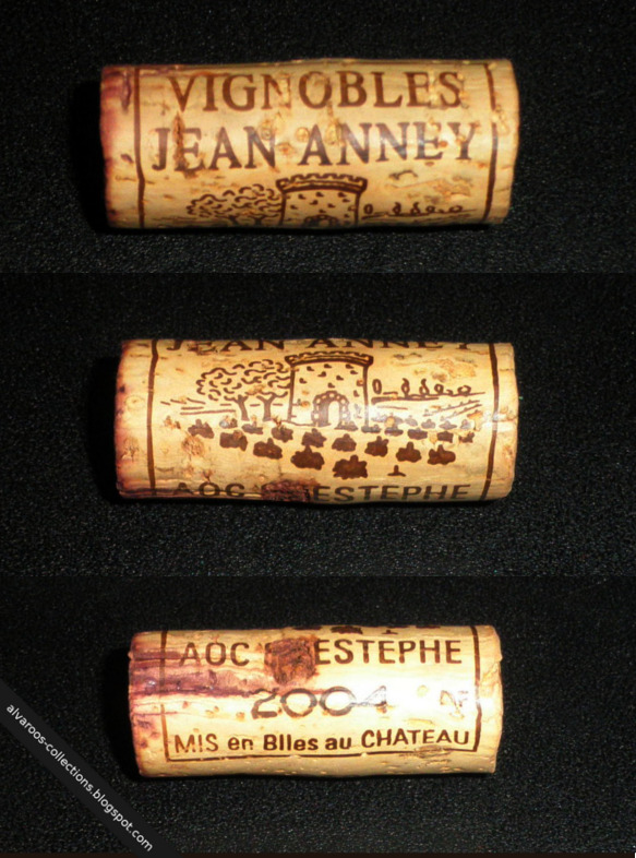 Wine cork: Vignobles Jean Anney, AOC St. Estephe 2004