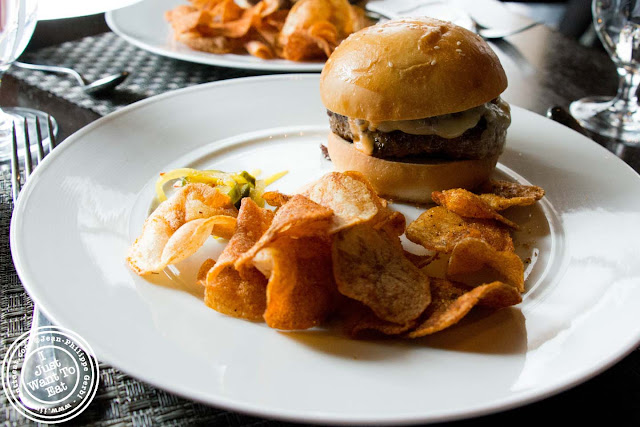 Image of the TC burger at Colicchio and Sons in NYC, New York