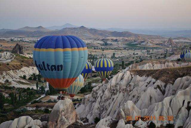 voo de balao - vale de Goreme - Capadocia