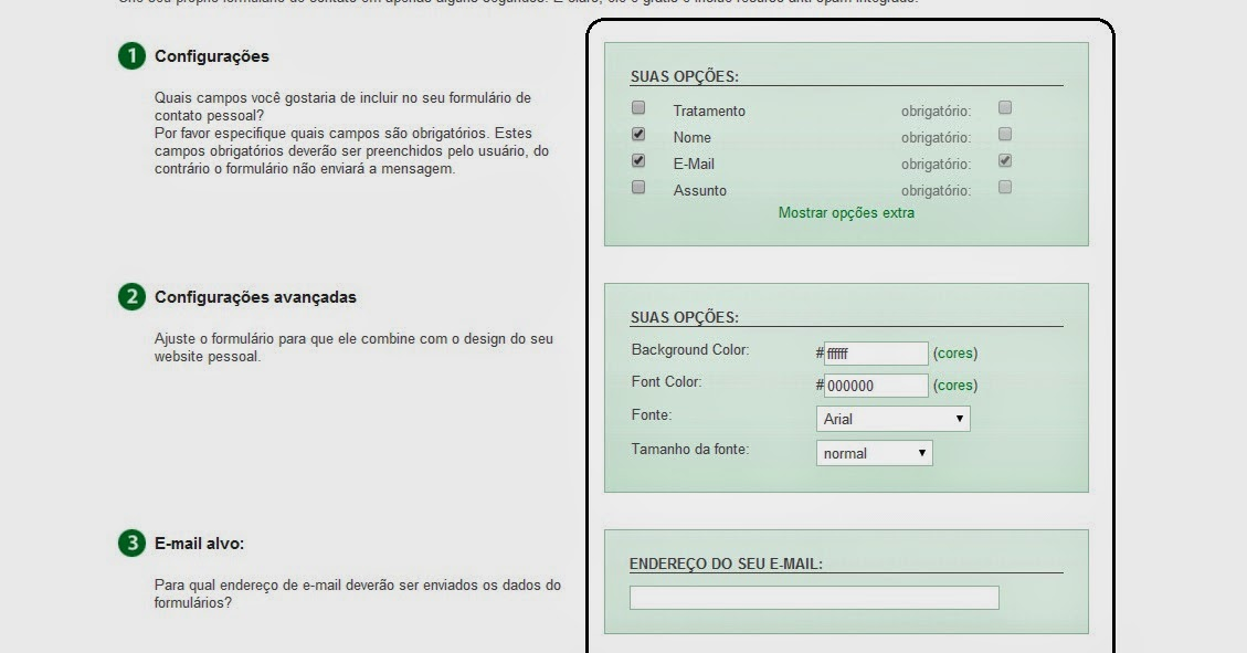 Formulário De Contato Para Blogger 2
