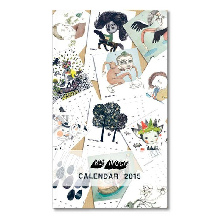 kunstkalender for 2015 fra designkollektivet Bob Noon