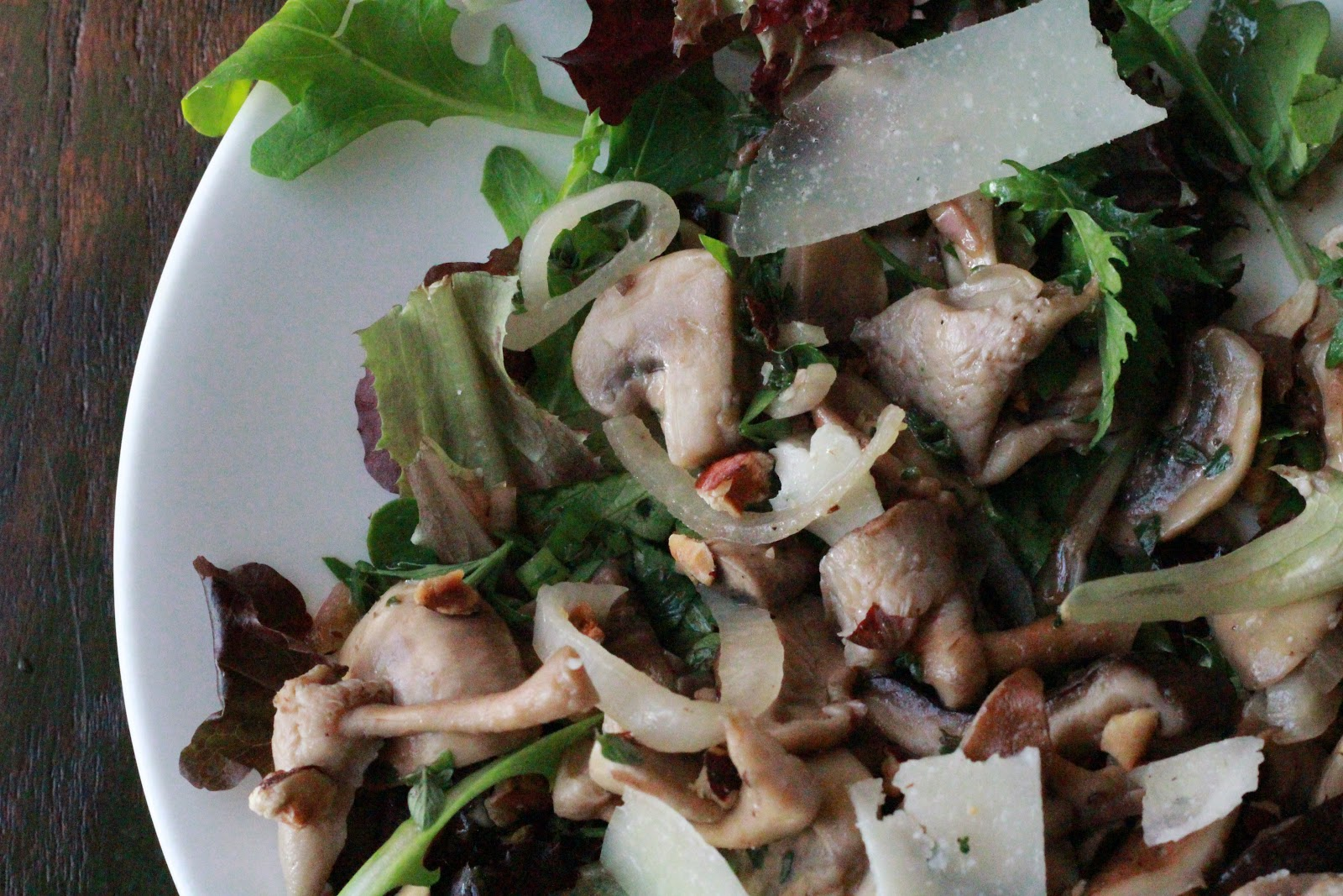 sm roasted mushroom salad with warm winter salads food can i be ...