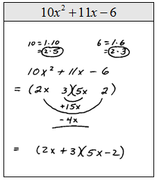 OpenAlgebra.com: Factoring Trinomials of the Form ax^2 + bx + c