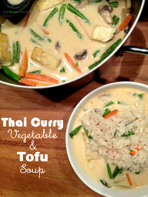 Thai Curry Vegetable & Tofu Soup from The Haas Machine