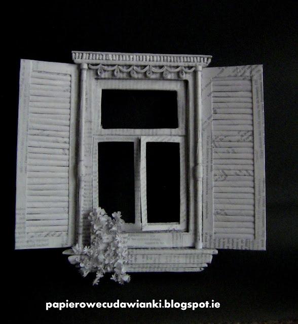 Okno z papieru,czyli dalej wypełniam ramkę