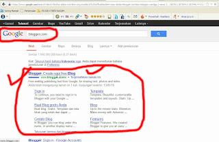 Cari Stus Blogger melalui Google