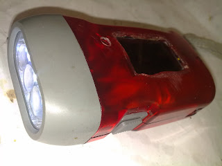 Joule thief flashlight torch with solar cell