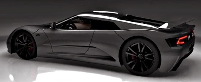 Genty Akylone supercar with tremendous horsepower unveiled