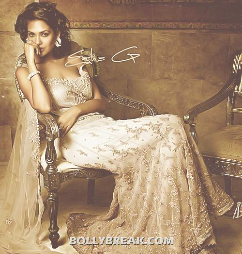Esha Gupta sitting on chair seductively in this exclusive wallpaper - (2) - Esha Gupta Latest Hot Pics - June 2012