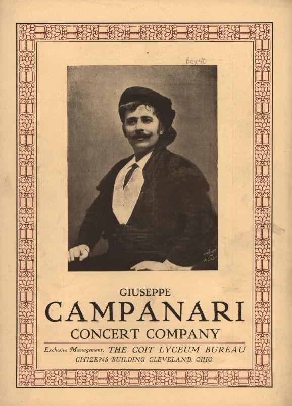 ITALIAN BARITONE GIUSEPPE CAMPANARI (1855 1927) CD