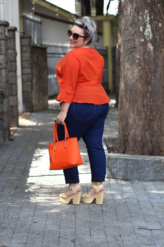 Tendencias primavera 2019: el color naranja. Outfits para gorditas