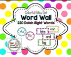 http://www.teacherspayteachers.com/Product/Word-Wall-Cards-EDITABLE-Bright-Polka-Dot-1300775