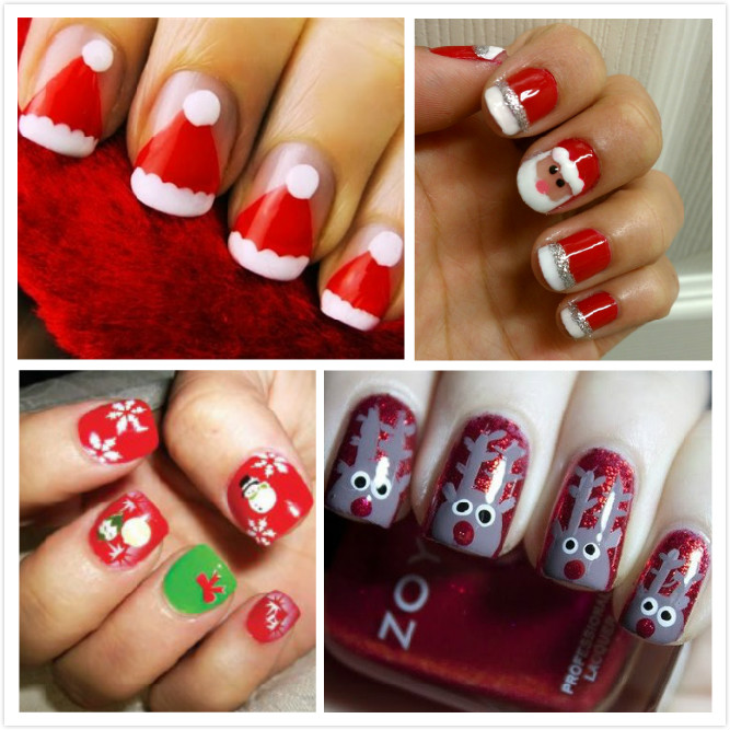 Christmas Design For Short Nails : Dise?o navide?o para u?as belleza y peinados