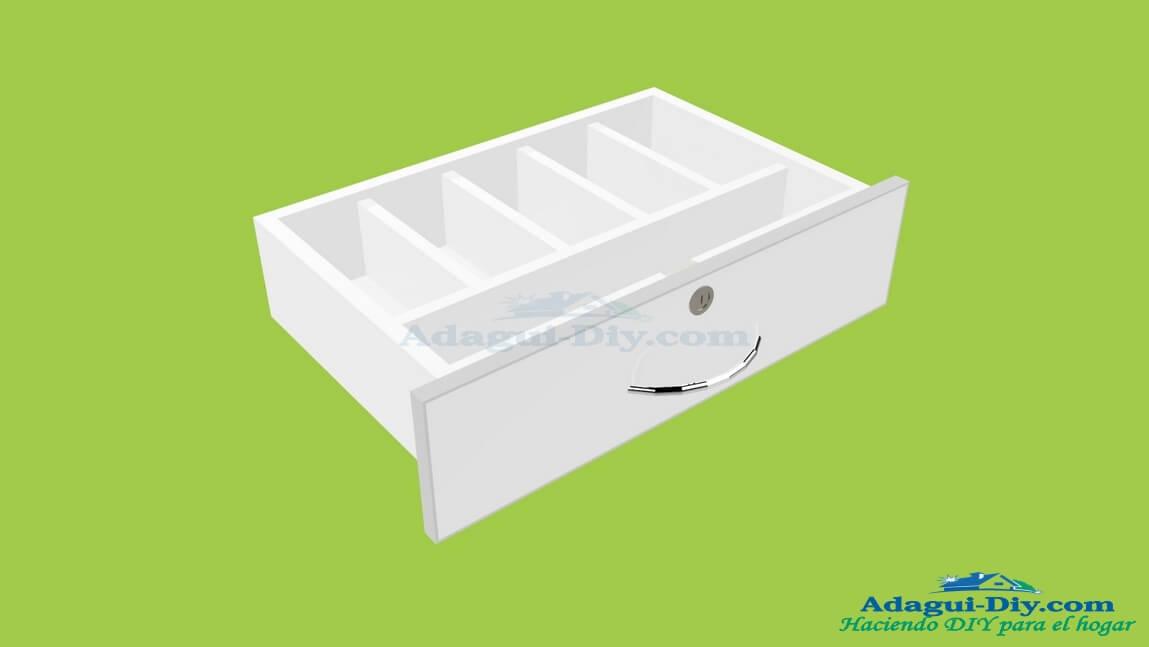 Dise o de caj n de melamina para counter u mostrador de for Software diseno muebles melamina
