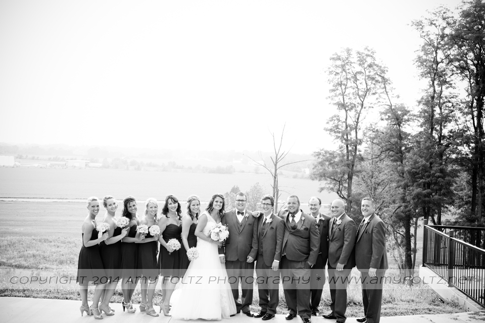 wedding party at Shrine Hill Country Place
